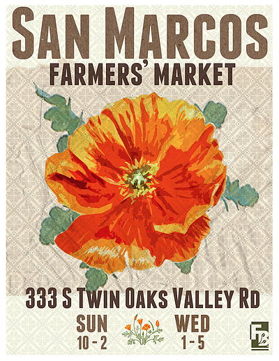 Promotional graphic for the San Marcos Farmer's Market at...
