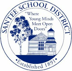 Graphic logo for the Santee School District.