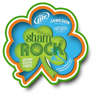 Promotional graphic for shamROCK 2014 on March 15th from 2pm - midnight. Courtesy of shamROCK.