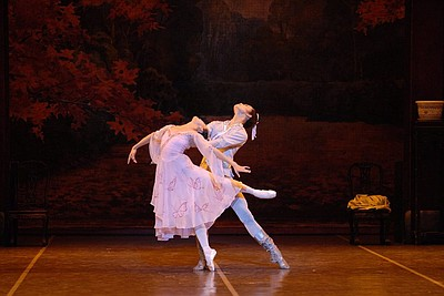 Promotional graphic for the performance of The Butterfly Lovers by Shanghai Ballet on October 29th, 2013.