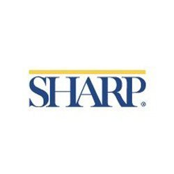 Graphic logo for Sharp HealthCare. Courtesy of Sharp HealthCare.