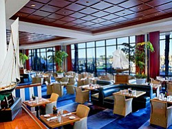 Interior image of Sheraton Hotel & Marina's Harbor's Edge Restaurant.