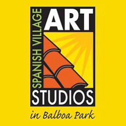 Graphic logo for the Spanish Village Art Center.
