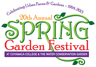 Promotional graphic for the 20th Annual Spring Garden Festival on Saturday, April 27, 2013.