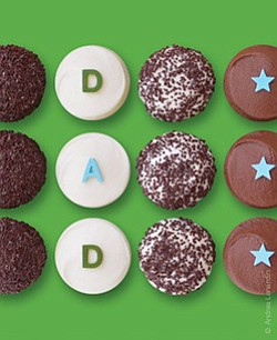 Promotional image of Sprinkles Cupcakes The DAD box only available June 14 -16, 2013. Courtesy image from Sprinkles Cupcakes.
