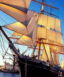 Promotional image of the Star of India. Courtesy image of Maritime Museum of San Diego.