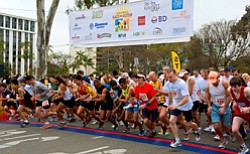 Promotional image of the start line at 2012 Race for Auti...