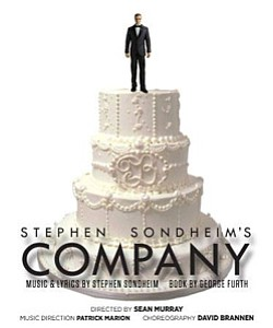 """Promotional graphic for Stephen Sondheim's """"Company,"""" the Award-Winning Musical Comedy from July 5 - August 18, 2013."""