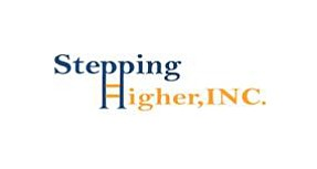 Graphic logo for Stepping Higher Inc.