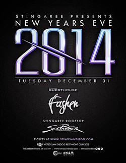 Graphic for Stingaree NYE 2014 on December 31st, 2013.