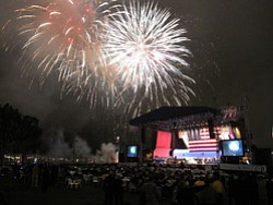Photo of the San Diego Symphony Star Spangled Pops from a previous year. Courtesy of the San Diego Symphony.
