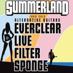 Promotional graphic for the Summerland Tour 2013 coming to San Diego on July 2nd at Humphrey's Concerts by the Bay.