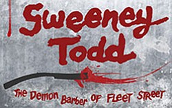 "Promotional image for ""Sweeney Todd,"" presented by UC San Diego Muir Musical, April 11-13, 2013 at 8 p.m., on the UC San Diego campus at the Mandeville Auditorium."