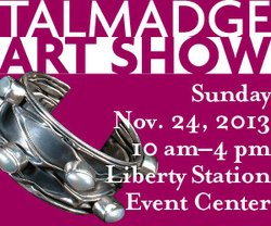 Promotional graphic for the 22nd Talmadge Art Show on Sunday, November 24, 2013 from 10 a.m. to 4 p.m. Courtesy of Sharon Gorevitz & Talmage Art Show.