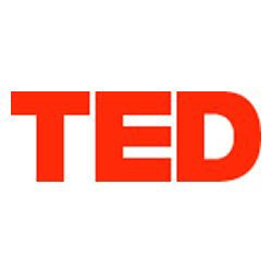 Graphic logo for TED.