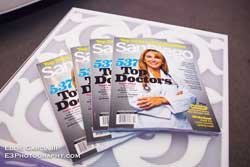Promotional Graphic for San Diego Magazine's Top Doctors taking place on November 9, 2013. Courtesy of Eddie Garcia III.