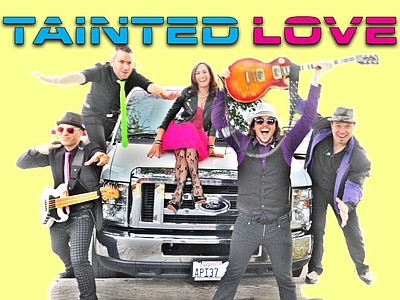 Promotional graphic for Tainted Love taking place on July...