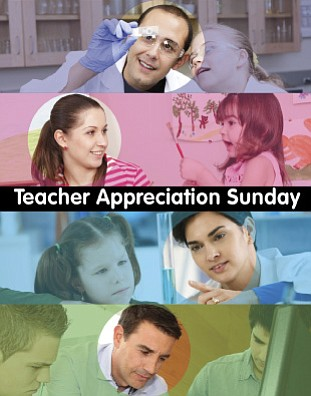 Promotional flyer for Teacher Appreciation Sunday on May 5th. Courtesy image of San Diego  First United Methodist Church.