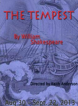 "Promotional graphic for the performance of Shakepseare's ""The Tempest"" at the Coronado Playhouse. Courtesy of the Coronado Playhouse."