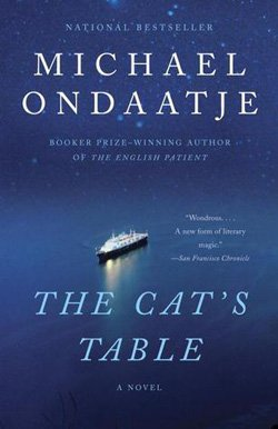 "Book cover of The Cat's Table"" by Michael Ondaatje."