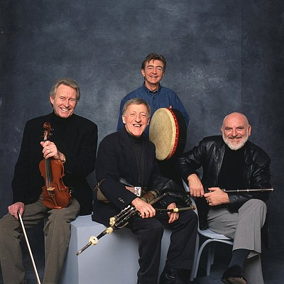 Promotional graphic for The Chieftans, performing at the Joan and Irwin Jacobs Music Center on February 23, 2014.