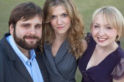 Promotional image of The Neave Trio performing at SDSU Smith Recital Hall on January 30th.