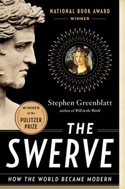 Promotional book cover for 'The Swerve: How The World Became Modern'. Courtesy image of San Diego Museum of Art.