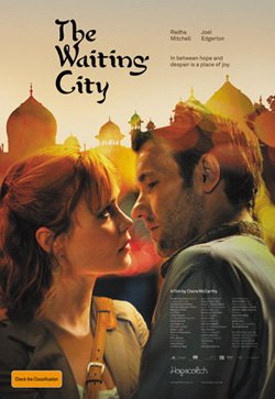 """Promotional movie poster for """"The Waiting City"""" playing at the Central Public Library."""