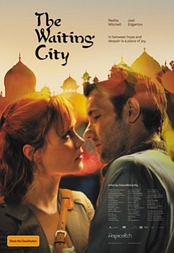 "Promotional movie poster for ""The Waiting City"" playing at the Central Public Library."