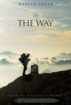 "Promotional movie poster for the film ""The Way"" playing at the Central Public Library."