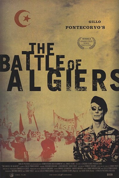 "Promotional graphic for the film, ""The Battle of Algiers."""