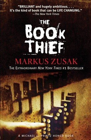 "Cover image for the book ""The Book Thief"" written by Markis Zusak."