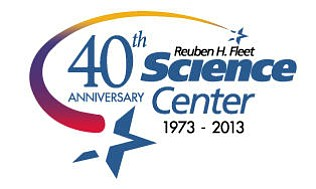 Promotional logo for the Reuben H. Fleet's 40th Anniversa...