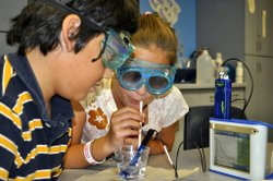 Image from the Biotech Bootcamp Summer Camp at the Reuben H. Fleet Science Center. Courtesy of the Reuben H. Fleet Science Center.