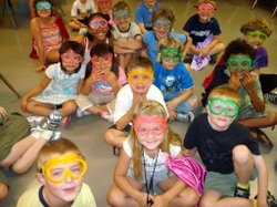 Promotional image of kids participating in Summer Camps at the Fleet, June 24 to August 23, 2013. Courtesy image of Reuben H Fleet Science Center.