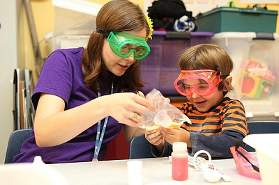 Photo from the Summer Camps at the Reuben H. Fleet Science Center. Courtesy of Reuben H. Fleet Science Center.