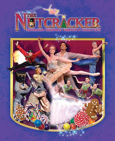 Promotional graphic for the performance of The Nutcracker by West Coast Ballet on December 7th, 2013.