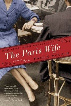 "Book cover of ""The Paris Wife"" written by Paula McLain."