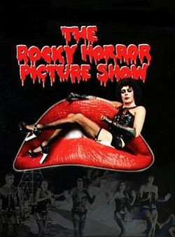 Movie poster for the Rocky Horror Picture Show.