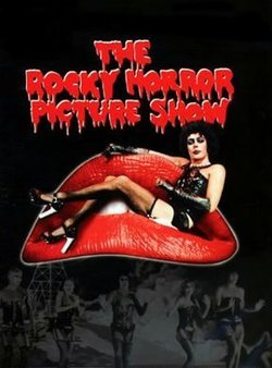 "Movie poster for ""The Rocky Horror Picture Show."""
