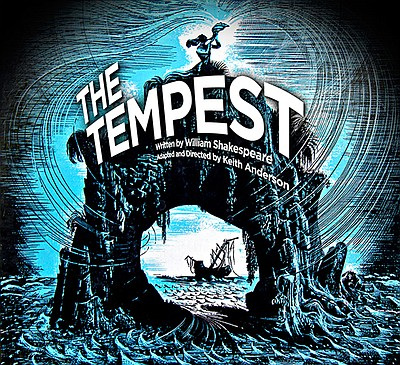 Promotional graphic for 17th Annual FREE Classics Festival - The Tempest at the Coronado Playhouse starting August 30th, 2013.