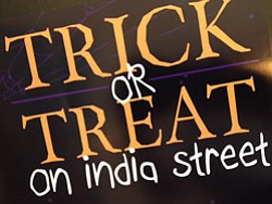 Promotional graphic for Trick-Or-Treat On India Street In Little Italy. Courtesy graphic of Laura Lhotsky Real Estate Group.