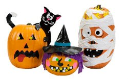 Promotional photo of the 2010 Stick or Treat™ Duct Tape Jack-O-Lantern Contest. Courtesy photo of Duck Tape Brand.