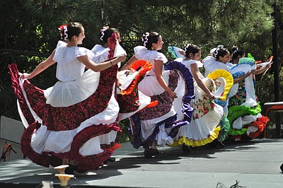 A cultural dance performance during UCSD's Annual Cultural Celebration. Courtesy of UCSD