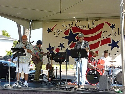 Photo of Armadillo Scrub Band performing on stage at University City Celebration 2011. Courtesy of the University City Celebration.