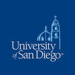 Graphic logo for University of San Diego.
