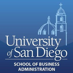Graphic logo of the USD School of Business Administration.
