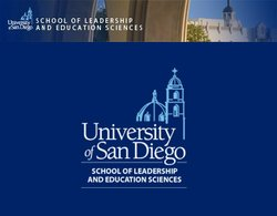Graphic image for USD's School of Leadership and Education Sciences.