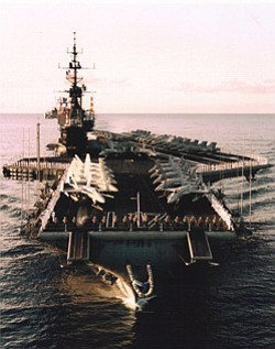 Promotional image of the USS Midway Museum.