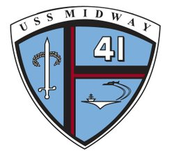 Graphic logo for the USS Midway Museum.